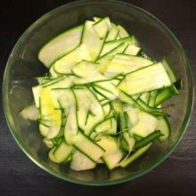 zucchine olio