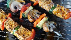 spiedini carne con verdure