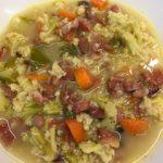 piatto zuppa broccoli